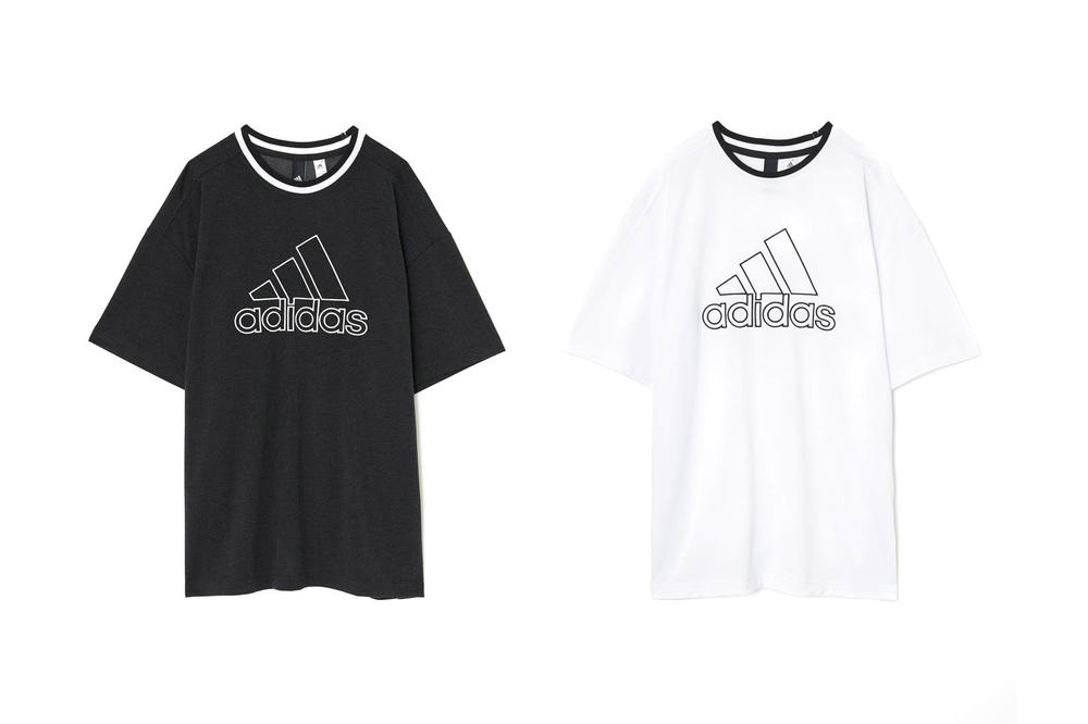 MOUSSY adidas Japan Spring Summer 2018 Collection Big Logo Tee Black White