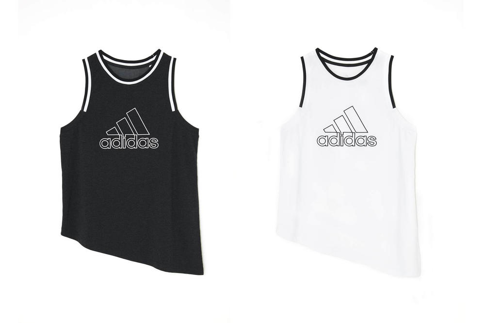 MOUSSY adidas Japan Spring Summer 2018 Collection Big Logo Tank Black White