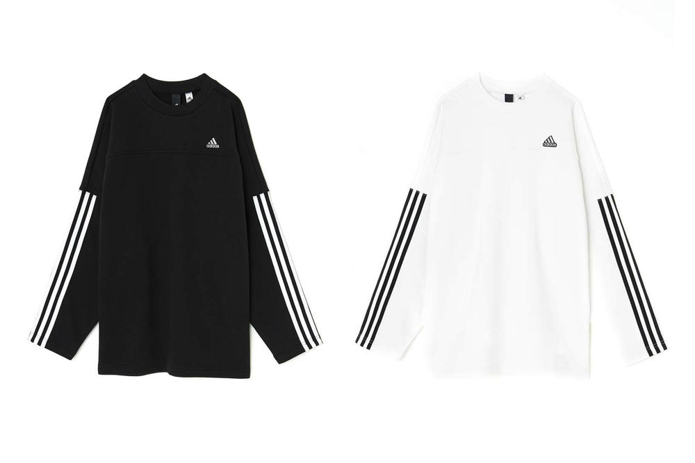 MOUSSY adidas Japan Spring Summer 2018 Collection Oversized Sweat Black White