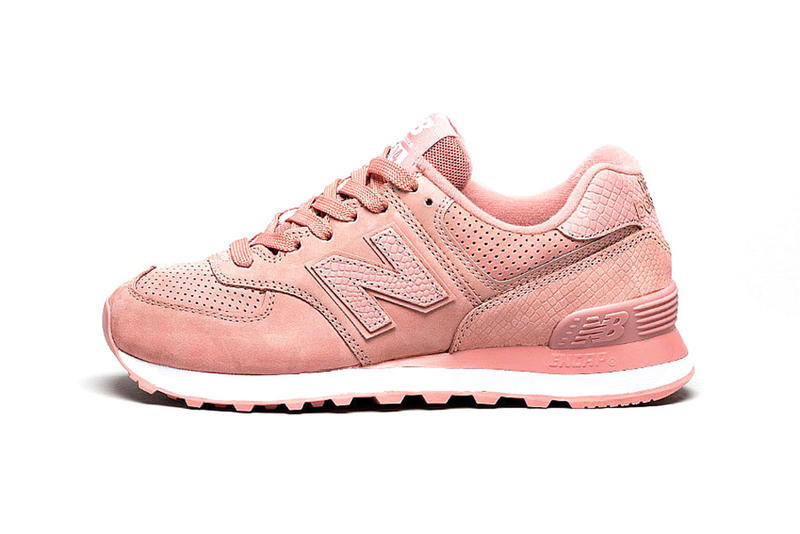 online store f1404 5b514 New Balance 574 Covered in Dusted Peach Pink | HYPEBAE