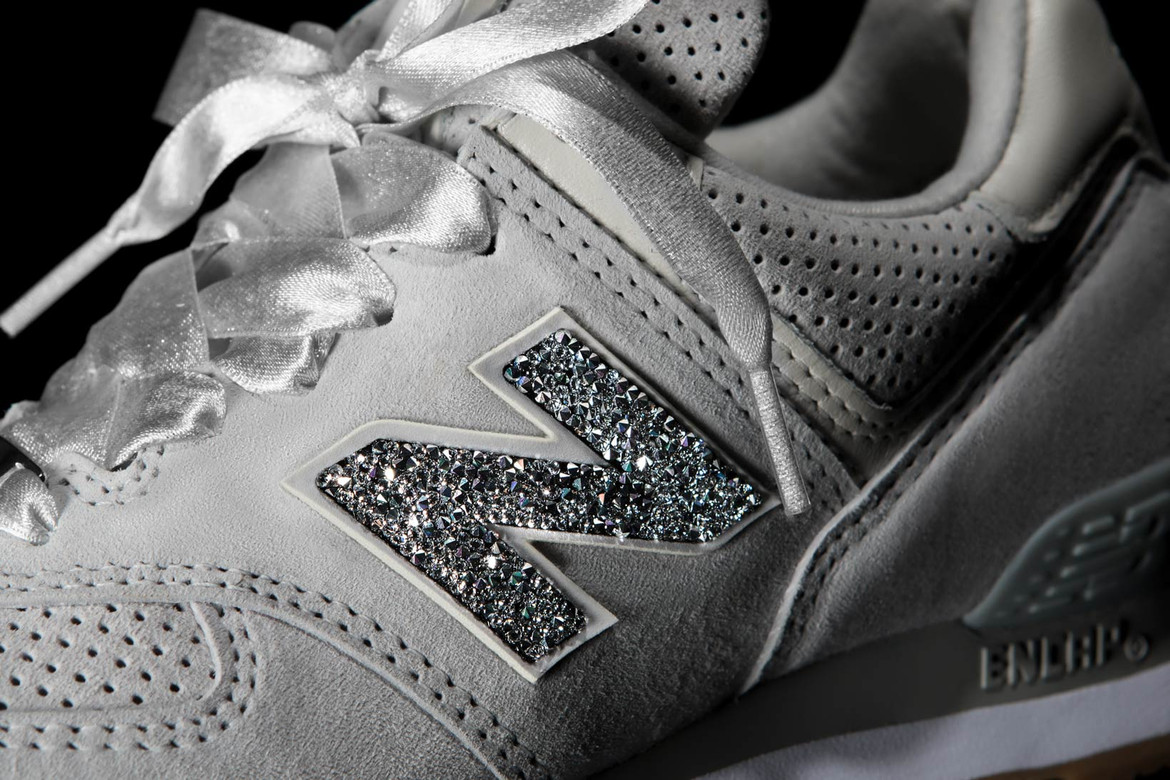 sports shoes 7954f 45581 New Balance Covers NB1 574 in Swarovski Crystals | HYPEBAE