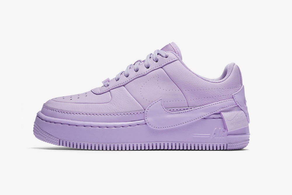 nike air force 1 low jester xx violet mist leather platform side profile purple