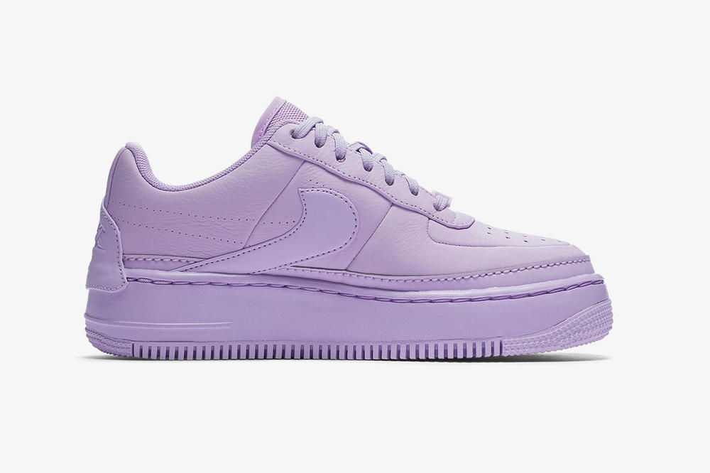 nike air force 1 low jester xx violet mist leather platform middle medial side purple