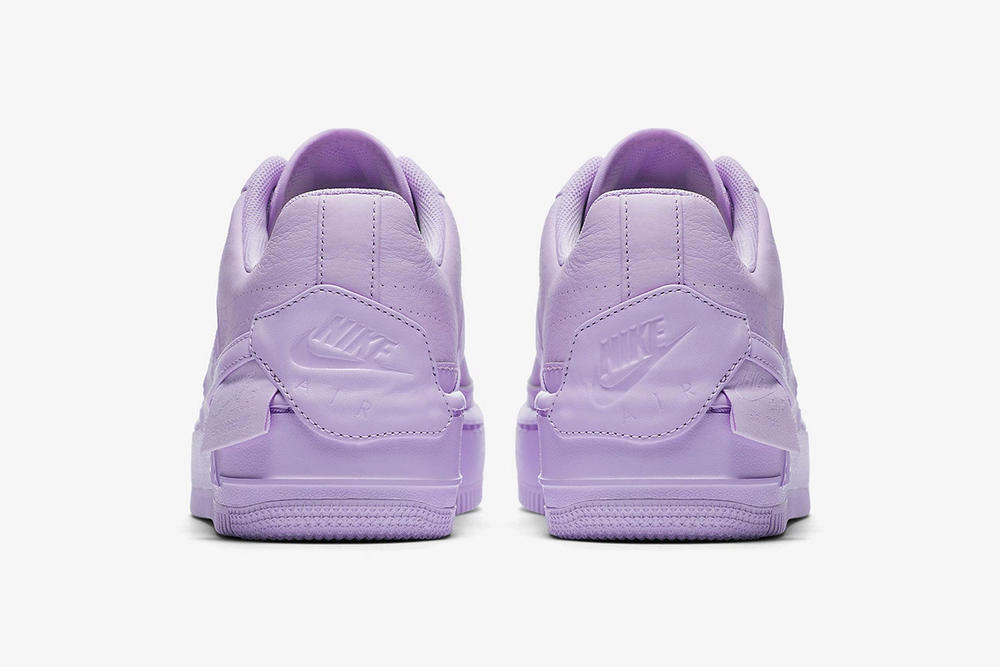 nike air force 1 low jester xx violet mist leather platform back purple heel