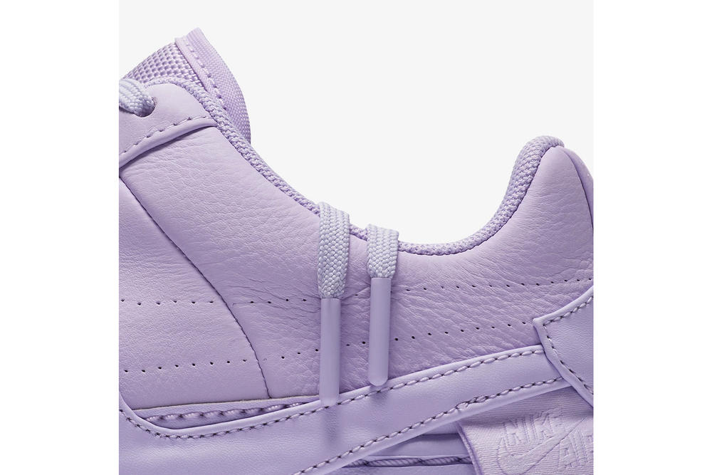 nike air force 1 low jester xx violet mist leather platform purple detail zoom laces