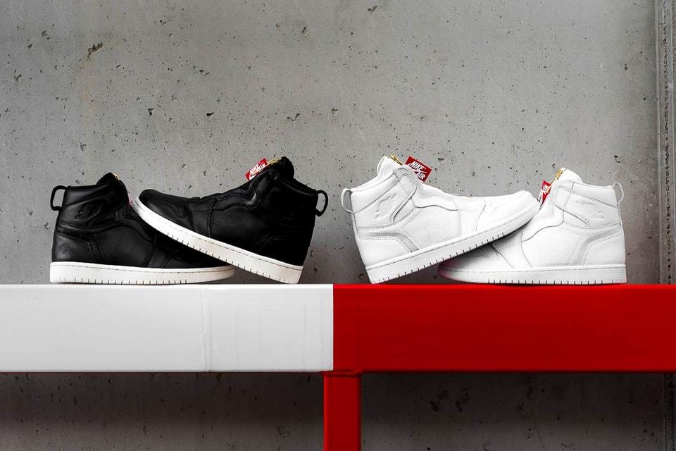 super popular ec574 720b0 Nike Air Jordan 1 Hi Zip Black and White Release   HYPEBAE