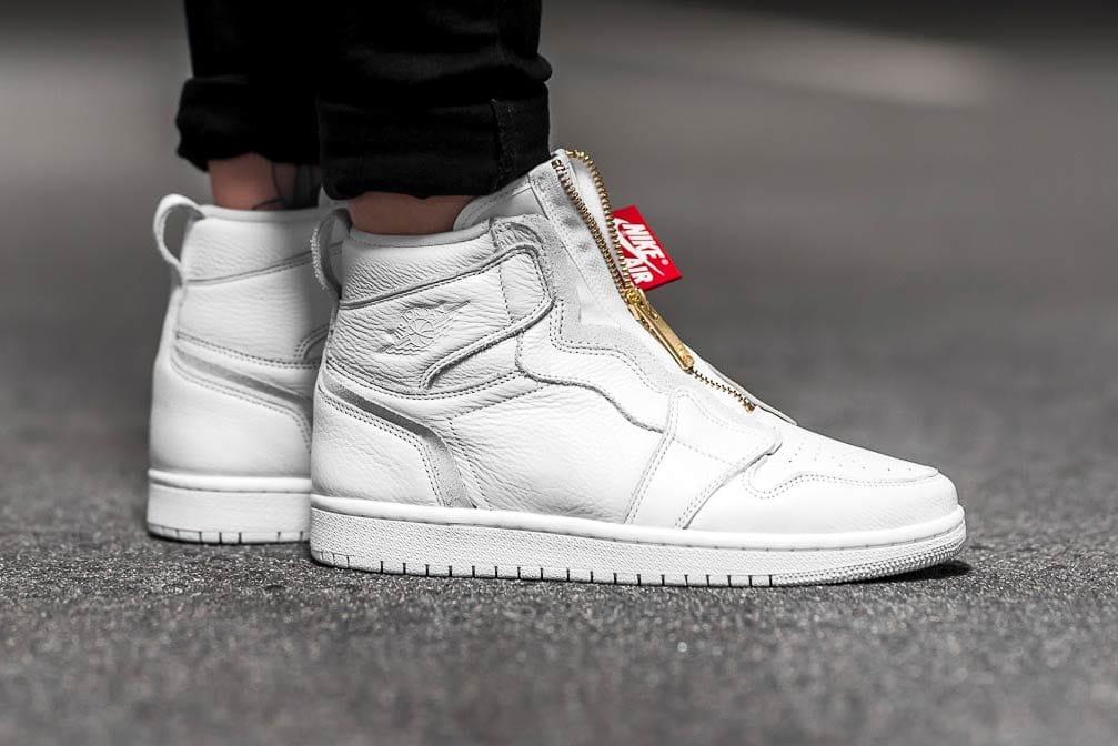 Nike Air Jordan 1 Hi Zip Black and