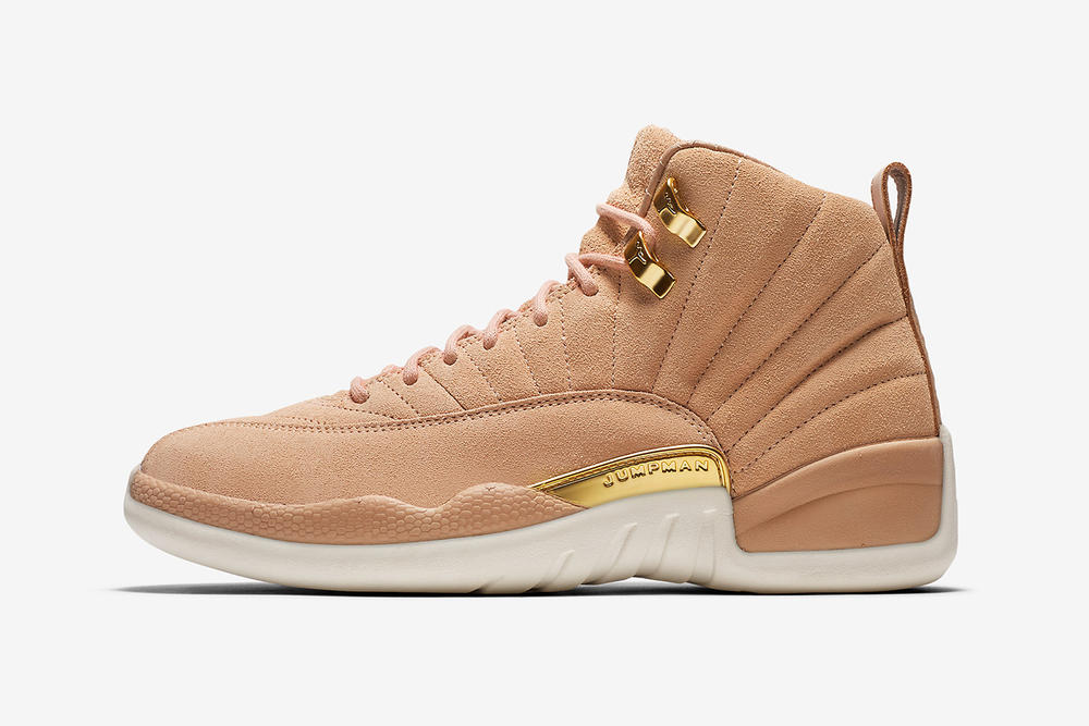 air jordan 12 womens exclusive vachetta tan nike side profile