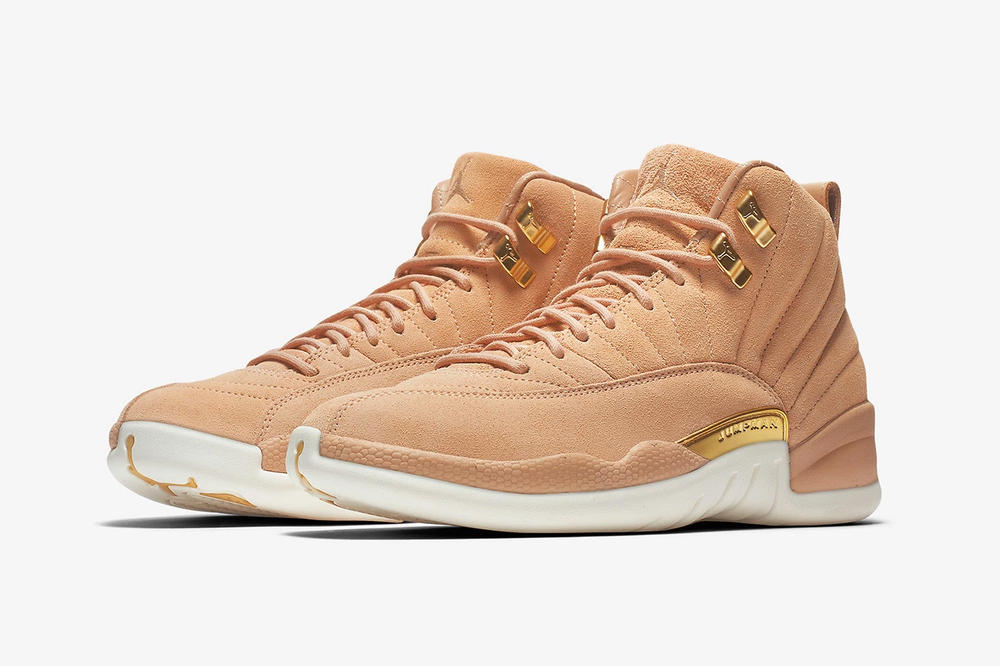 air jordan 12 womens exclusive vachetta tan nike side profile angle front