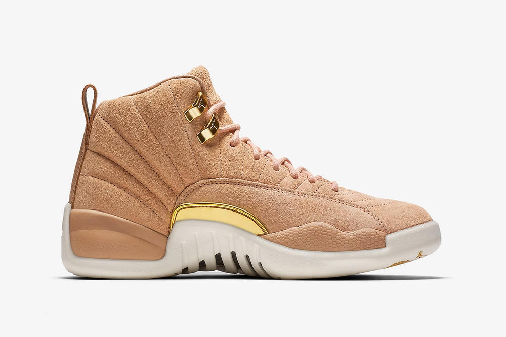air jordan 12 womens exclusive vachetta tan nike side profile middle medial