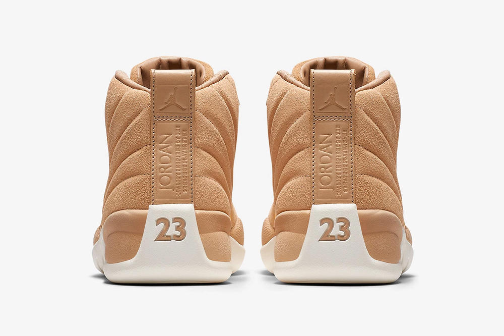 air jordan 12 womens exclusive vachetta tan nike heel profile back