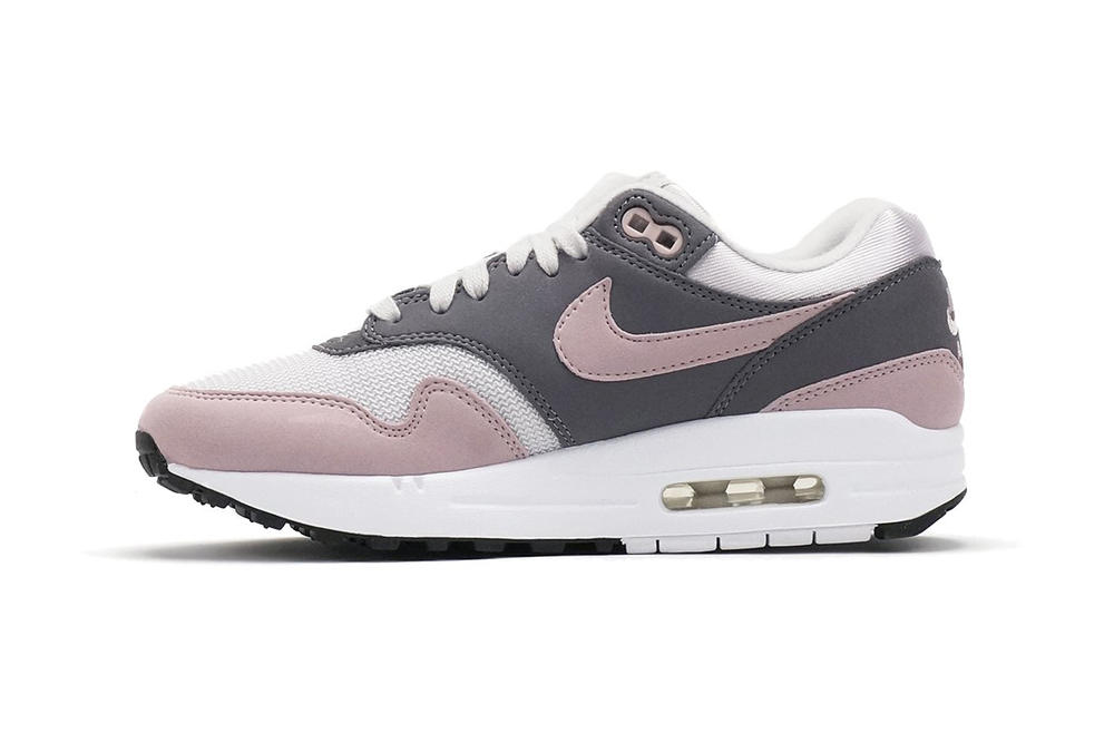 brand new 9089f 5823e Nike Air Max 1 Vast Grey Particle Rose womens wmns sneaker retro pastel  millennial pink leather