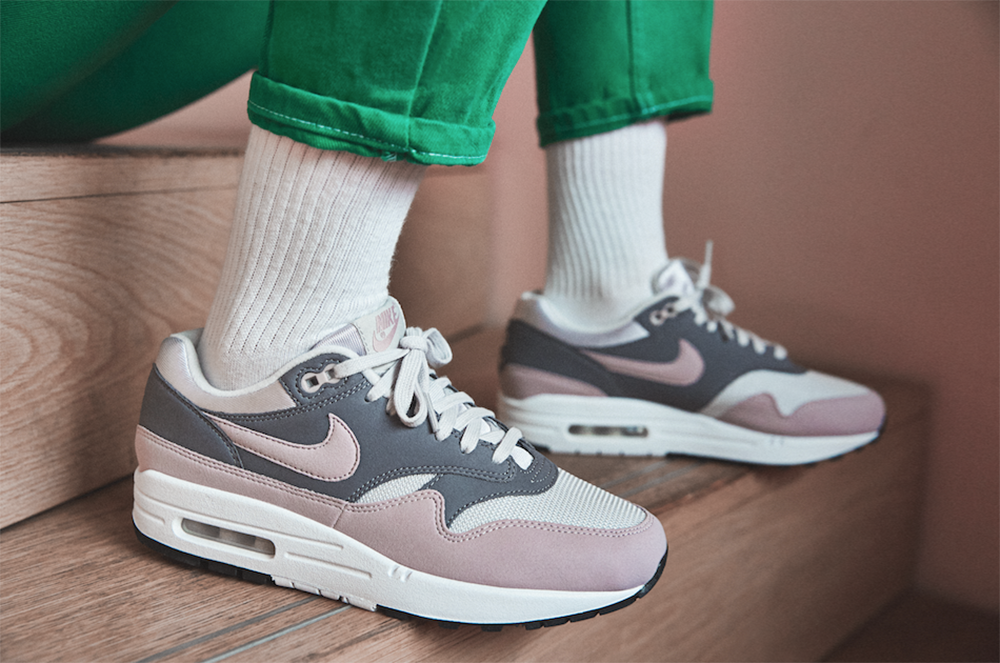 new style d6d08 567a9 Nike Women s Only Air Max 1 Sneakers ladies girls spring 2018 particle rose  grey black navy