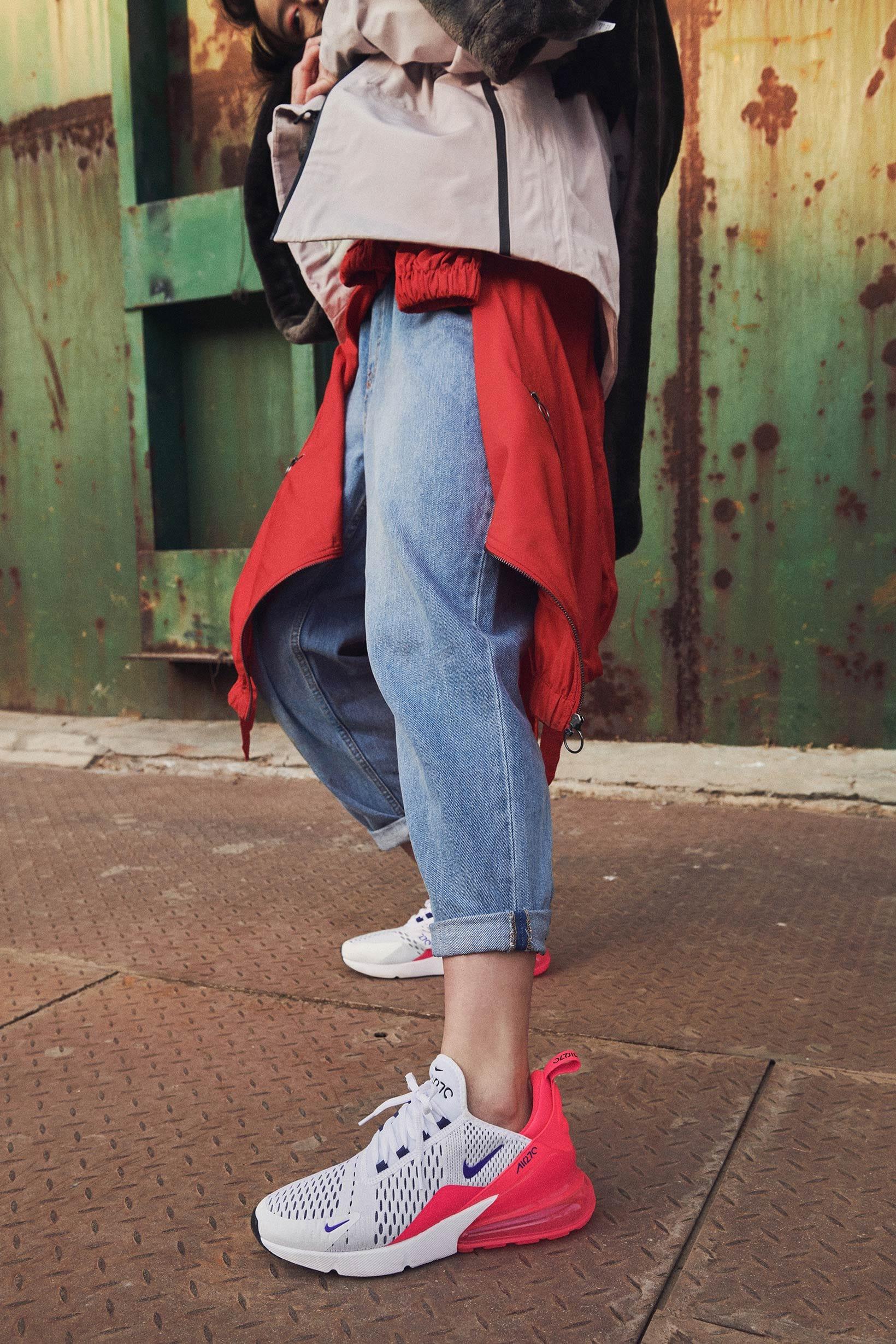 Stephanie Au in Nike's Air Max 270 \