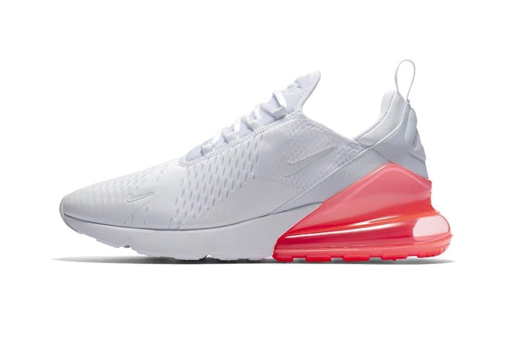 Nike Air Max 270 Hot Punch Total Orange see through transparent heel white  mesh mens women s a17381c15
