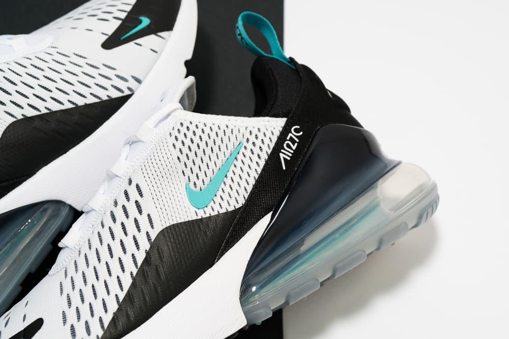 Nike Air Max 270 Black White Teal