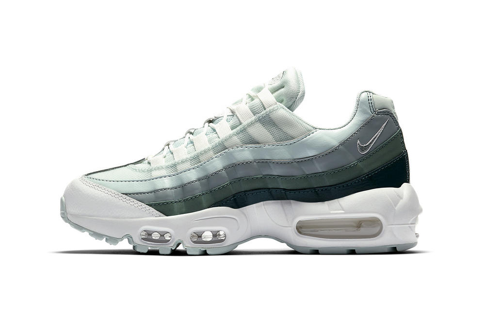 ed7c14664 Nike Air Max 95 Green Gradient Light Dark Ombre Mint mens women's unisex  sneakers trainers release