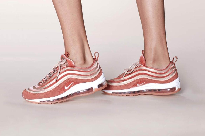 Shop Nike S Air Max 97 Lx Velvet In Dusty Peach Hypebae