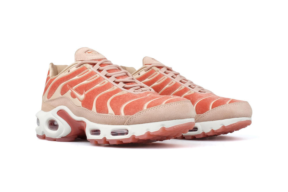 promo code a7a27 48bf5 Nike Air Max Plus LX Dusty Peach Velvet pastel lux tn tuned retro 90s  womens sneakers