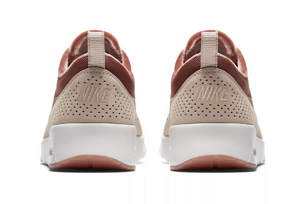 Nike Air Max Thea LX Dusty Peach Velvet Pink Rose Gold Ladies Women s Girls  Sneakers where e6eb96104