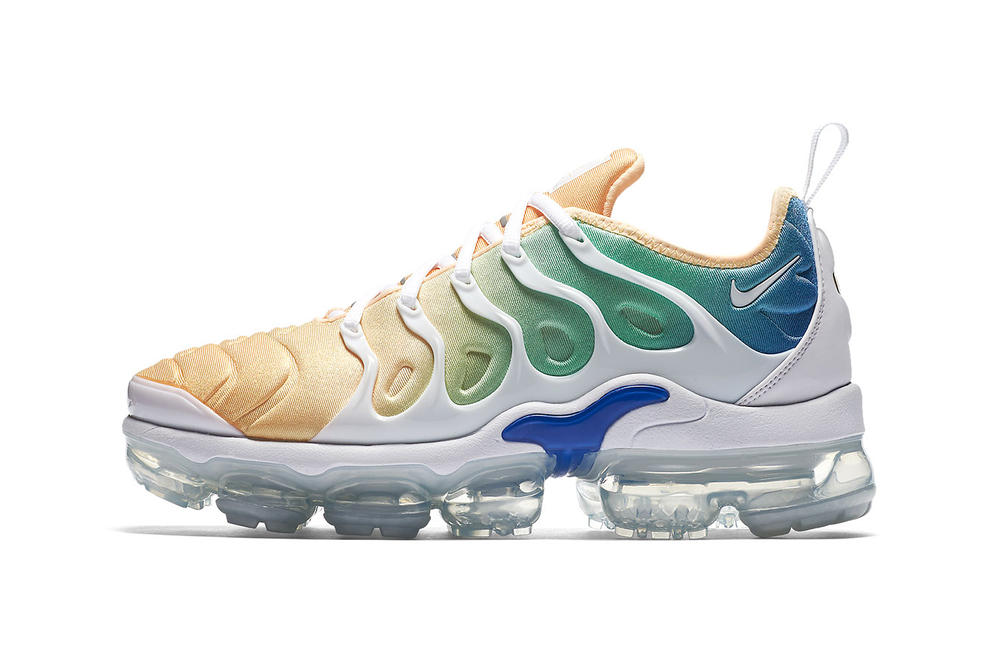 872a1c1b132b Nike Air VaporMax Plus Blue Green Gold Gradient