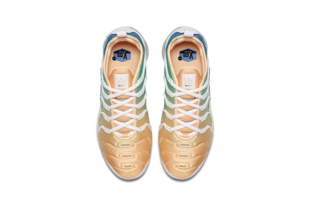 Nike Air VaporMax Blue Green Gold Gradient