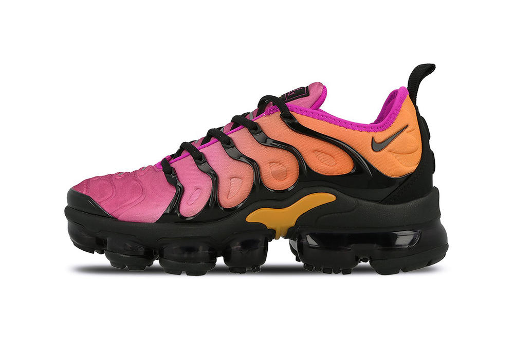 e1040893aa Nike New Air VaporMax Plus TN Gradient Sneakers Reverse Sunset Sherbet  Ombre Fuchsia Orange Crimson Fluoro