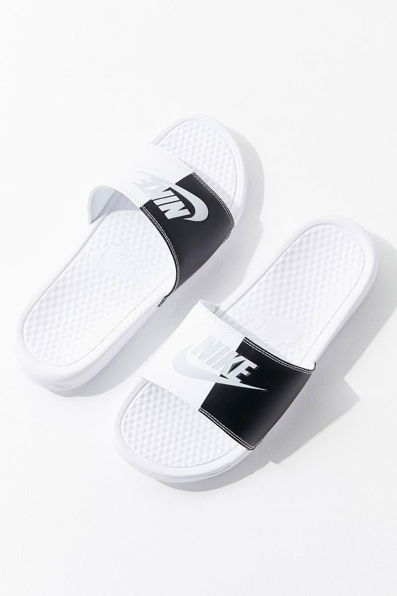 Nike Benassi JDI Colorblock Slide Black White