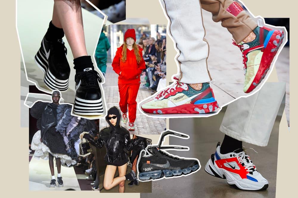 Nike Comme Des Garcons Platform Cortez Off-White Air VaporMax Virgil Abloh UNDERCOVER React Element 87 John Elliott Vandal 2k Creeper Monarch Fashion Week New York Paris