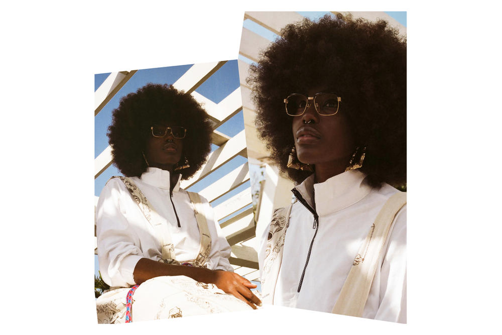 No Sesso x Bephie Capsule Collection Crenshaw Bl Editorial Jacket White