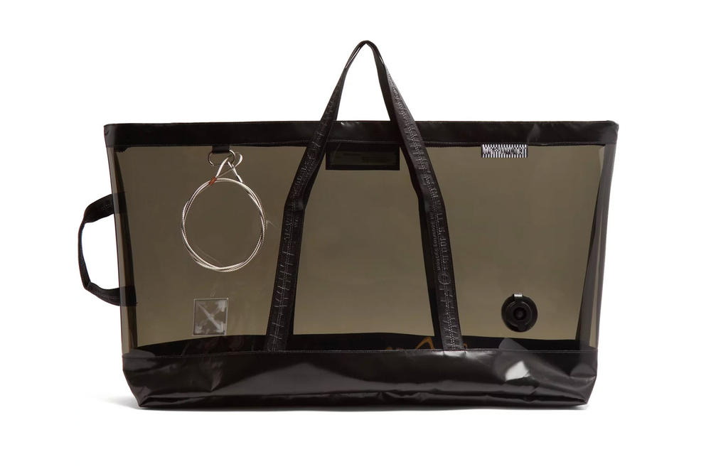 Off-White™ Black PVC Oversized Tote Bag Translucent See Through Transparent Plastic Large unisex mens womens where to buy matchesfashion.com