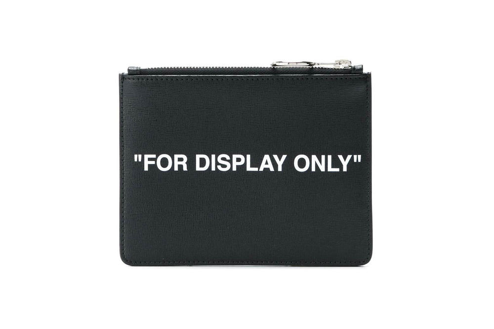 Off-White FOR DISPLAY ONLY Pouch Black