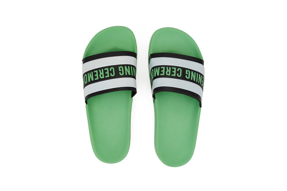 Opening Ceremony Colorful Rubber Slides Sandals Ace Green White Red Blue Black Strap Summer Spring Shoe