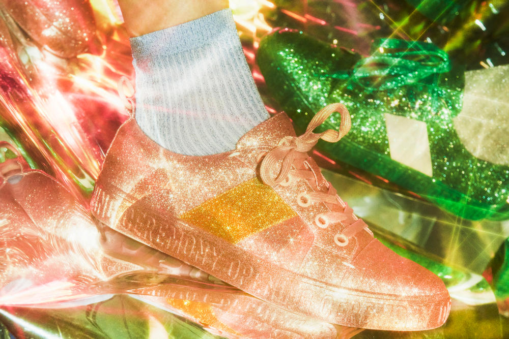Opening Ceremony Glitter La Cienaga Sneakers Closer Look Pink Green Blue