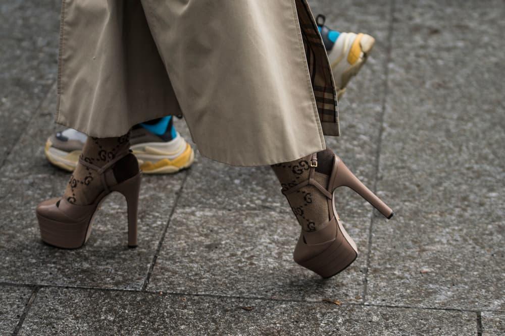 Paris Fashion Week 2018 Streetsnaps Women Gucci Socks