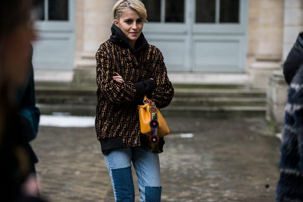 Paris Fashion Week 2018 Streetsnaps Women Fendi Bag Coat