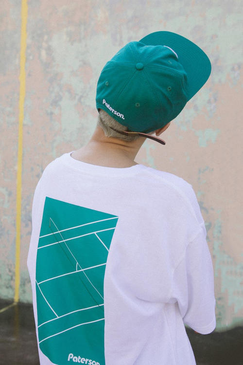 Paterson Spring/Summer 2018 Lookbook Hat T-Shirt White Tide Green