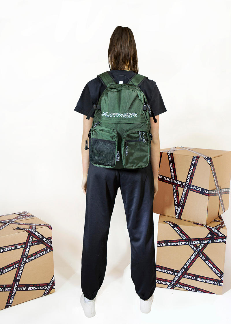 Places+Faces Spring/Summer 2018 Lookbook Backpack Forest Green