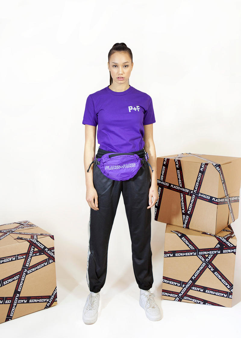 Places+Faces Spring/Summer 2018 Lookbook Shirt Fanny Pack Purple