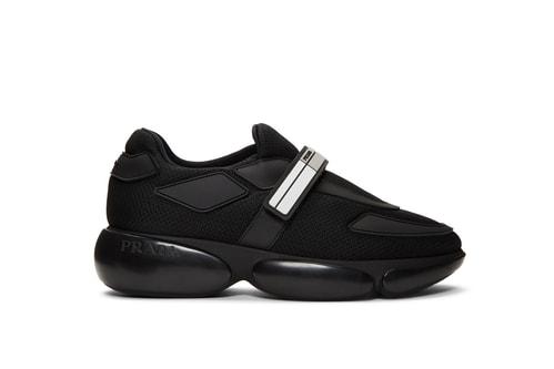 d3ed8b6662e Prada s Cloudbust Sneaker Gets a Sleek Black Makeover