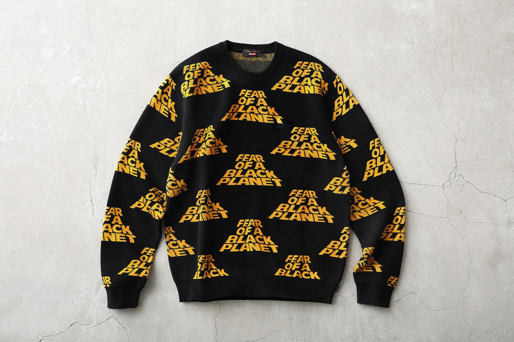 Supreme Public Enemy UNDERCOVER Sweater Black Yellow