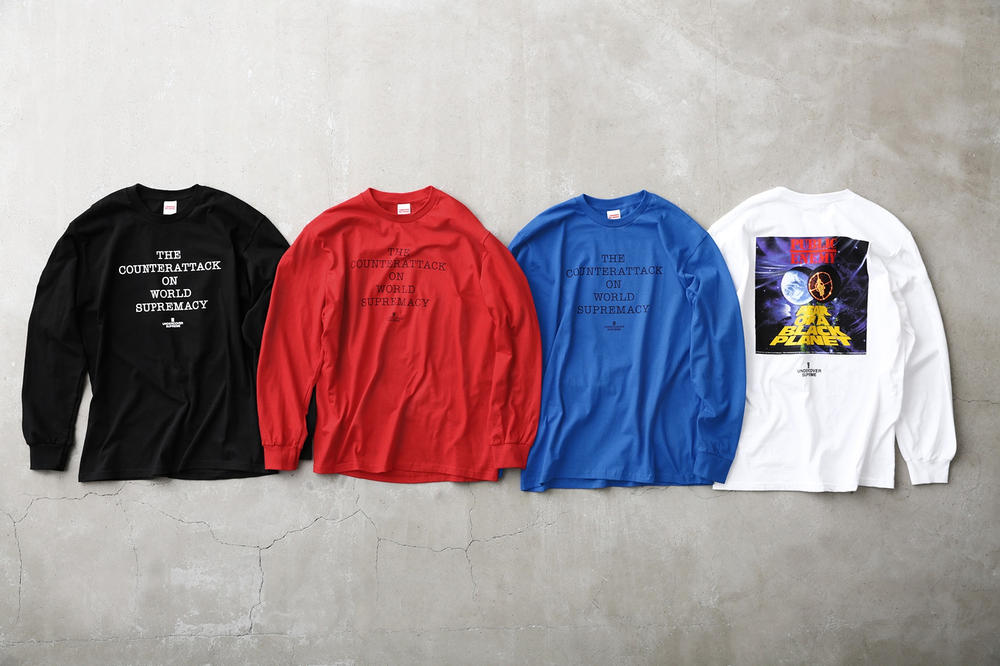 Supreme Public Enemy UNDERCOVER T-Shirt Blue Red White Black
