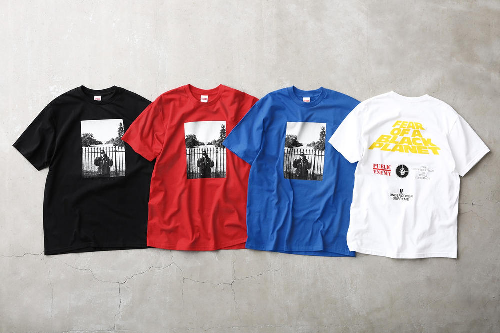 Supreme Public Enemy UNDERCOVER T-Shirt Red White Black Blue