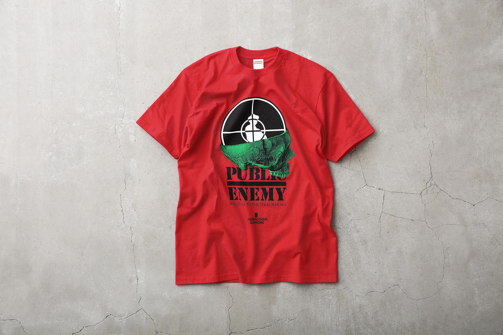 Supreme Public Enemy UNDERCOVER T-Shirt Red