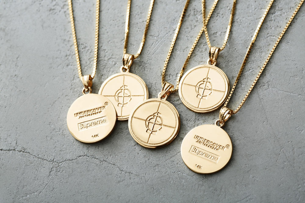 Supreme Public Enemy UNDERCOVER Gold Jewelry