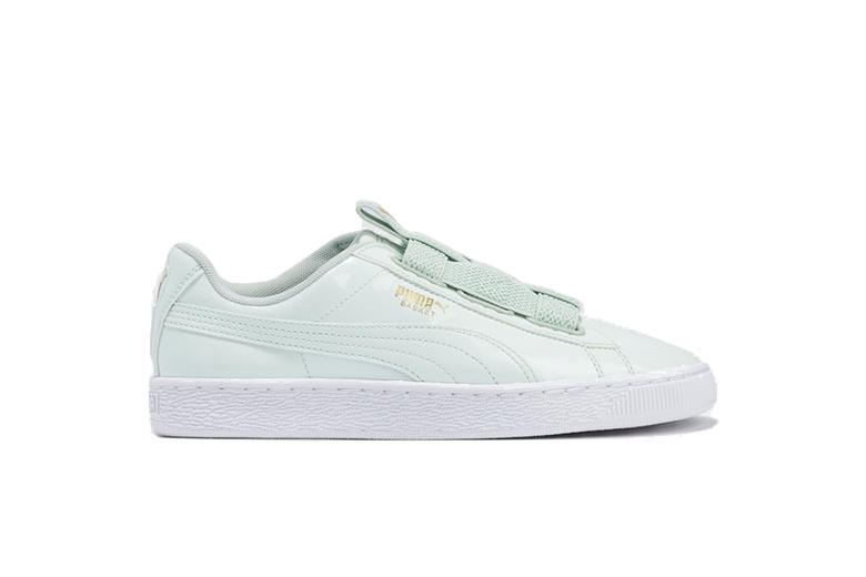 cheap for discount 33e1f 4abf0 PUMA Basket Maze in Mint Green Patent Leather | HYPEBAE