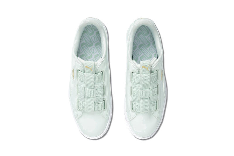 PUMA Basket Maze in Mint Green Patent Leather