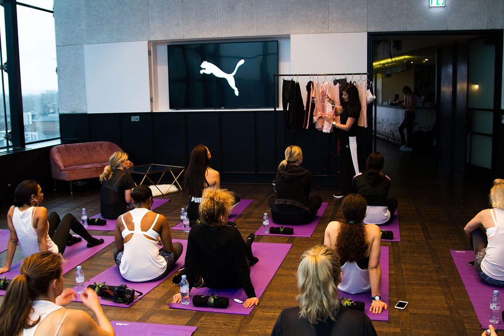 PUMA store harrods london mens women's fitness performance brunch event east london ace hotel shoreditch mel wells en pointe yoga
