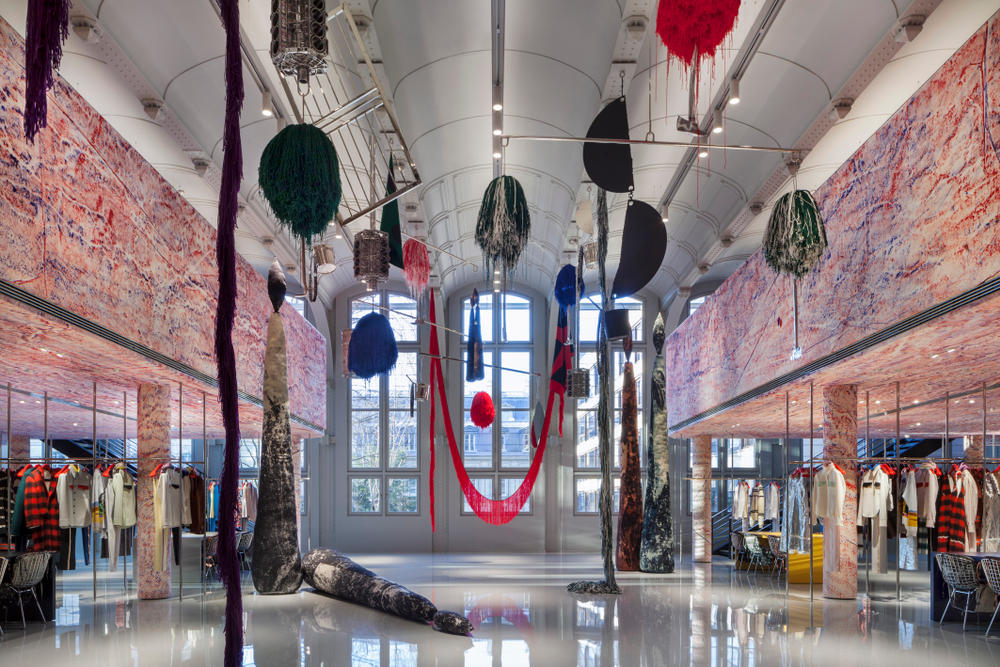 Raf Simons Calvin Klein Opens Paris Headquarters Office Space Architecture Sterling Ruby
