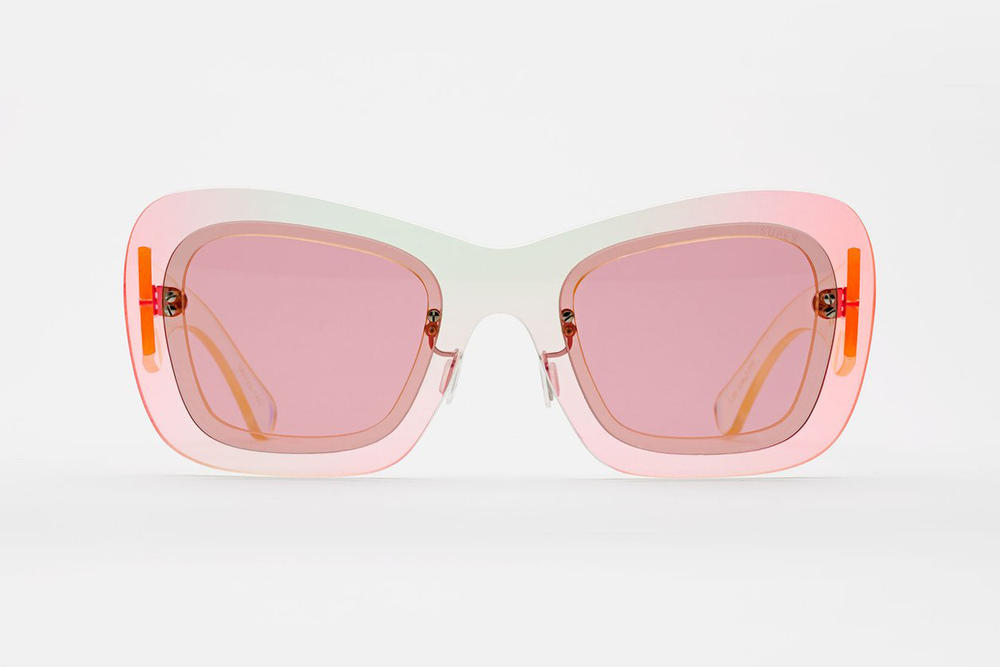 RETROSUPERFUTURE LAYERS Sunglasses Line Iridescent Pink